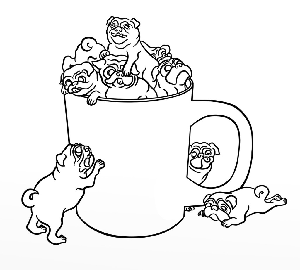 Cute Coloring Pages  Pug Coloring Pages Best Coloring Pages For Kids