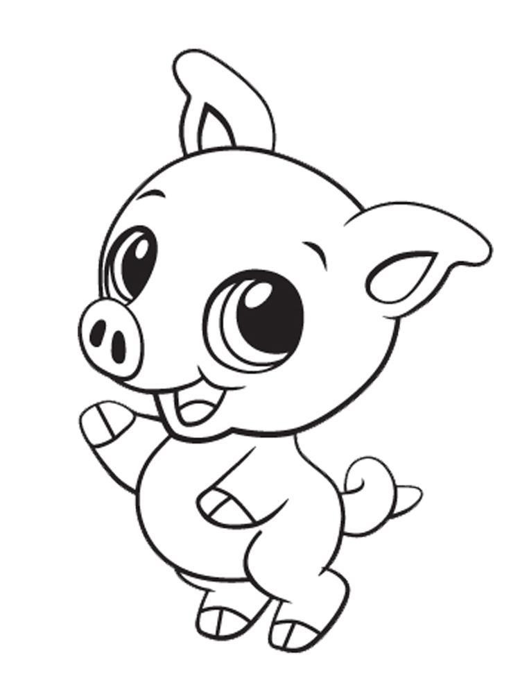 Cute Coloring Pages  Cute Coloring Pages of Animals Cat Dog Monkey Sheep