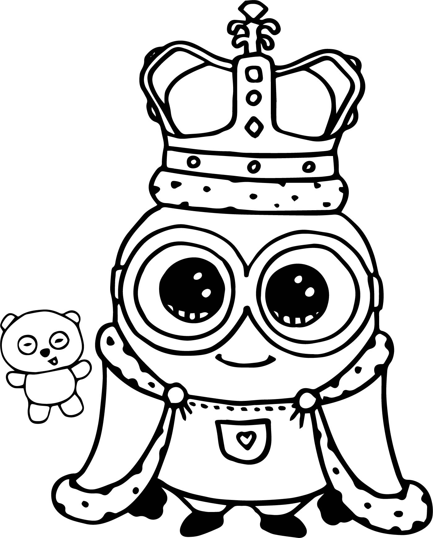 Cute Coloring Pages  Minion King Bob Cute Coloring Page