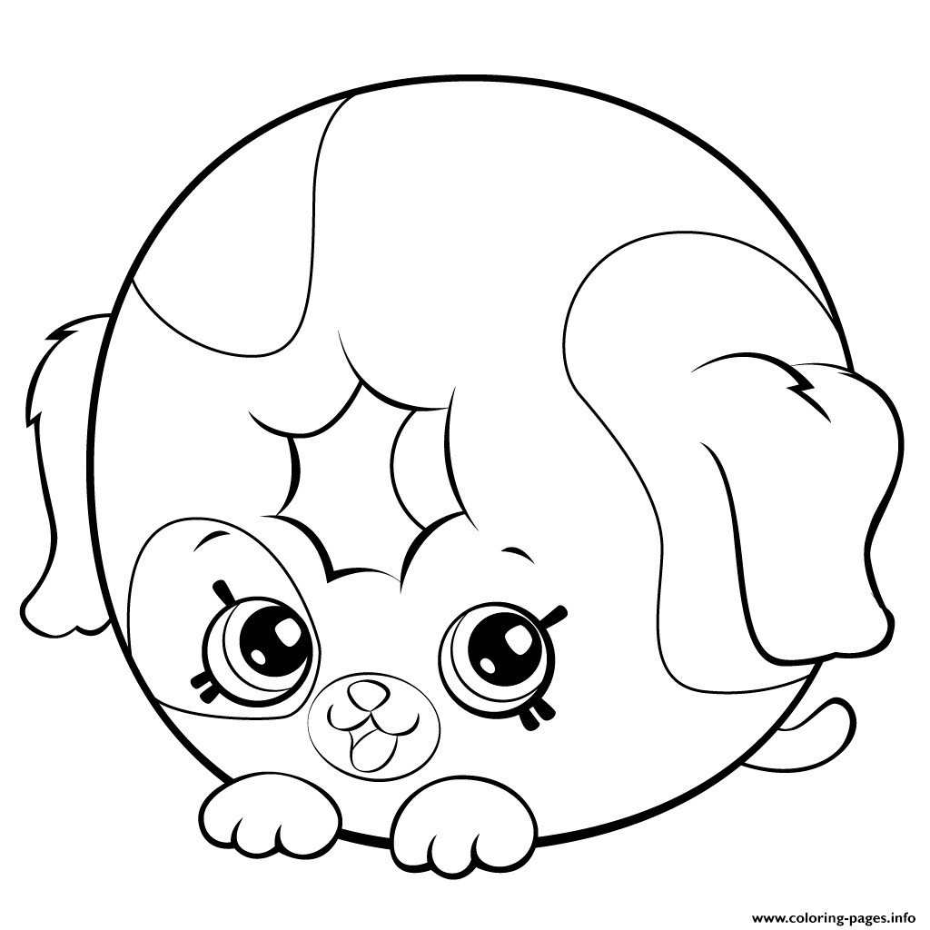 Cute Coloring Sheets For Girls  Cute Coloring Pages For Girls 7 To 8 Shopkins