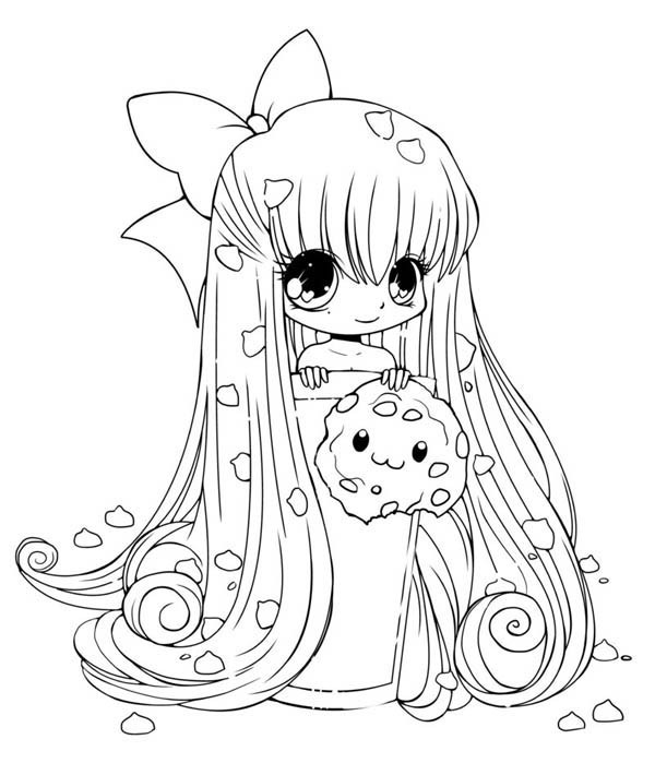 Cute Coloring Sheets For Girls  15 cute chibi coloring pages printable Print Color Craft