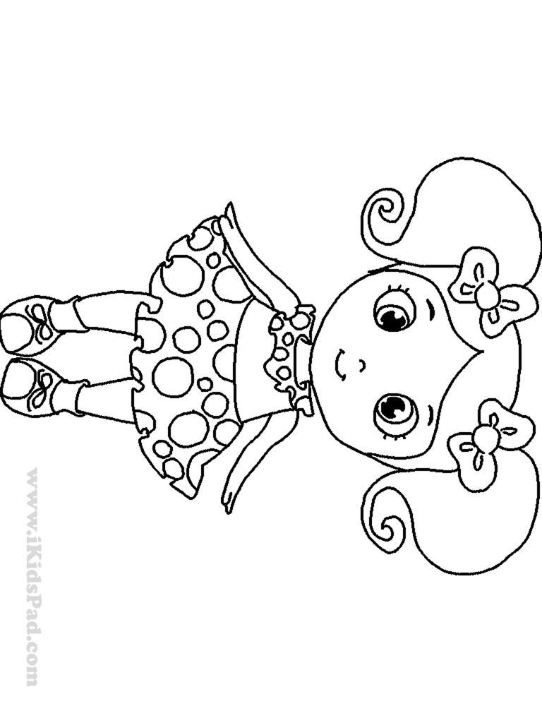 Cute Easy Coloring Pages For Girls  Draw So Cute Coloring Pages Coloring Home