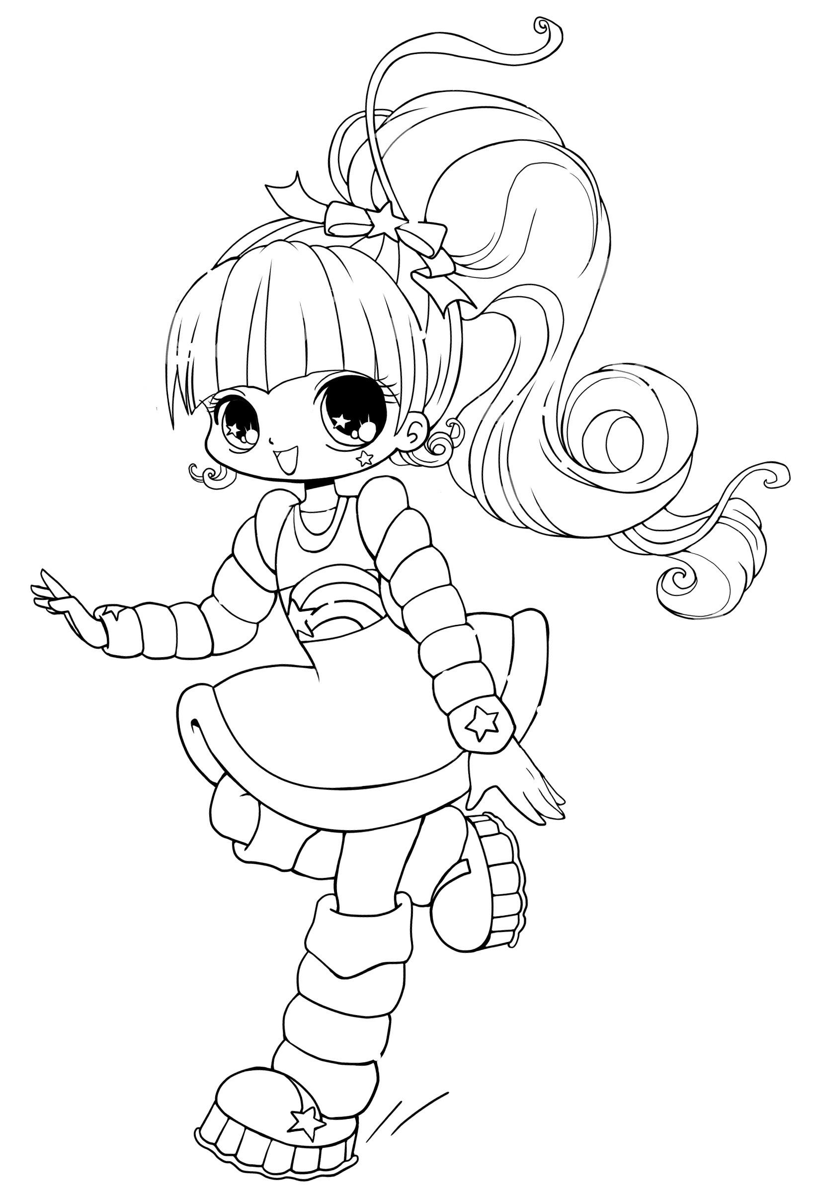 Cute Girl Coloring Sheets For Kids  Free Printable Chibi Coloring Pages For Kids