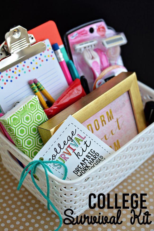 Cute Graduation Gift Ideas  College Survival Kit Back To School Ideas