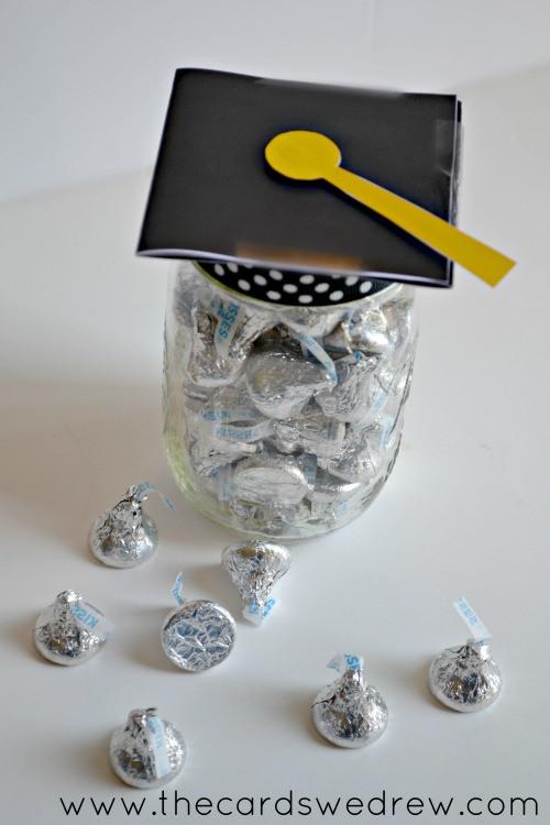 Cute Graduation Gift Ideas  Mason Jar Graduation Hat Gift Idea and Free Print The