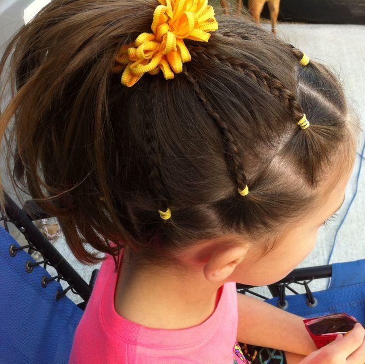 Cute Gymnastics Hairstyles  Meer dan 1000 ideeën over Cute Cheer Hairstyles op