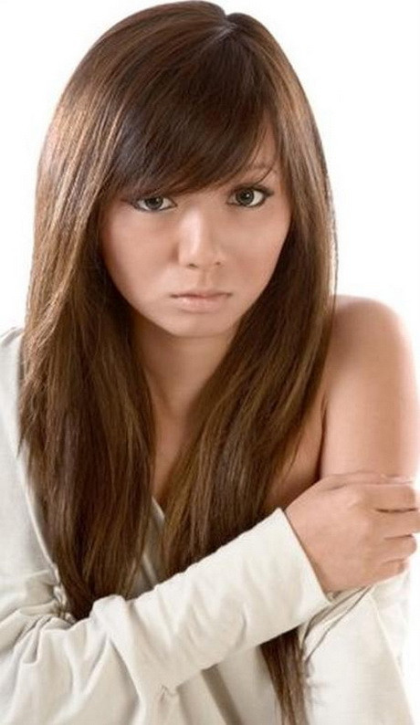 Cute Hairstyles For Bangs  Cute haircuts for long hair with side bangs