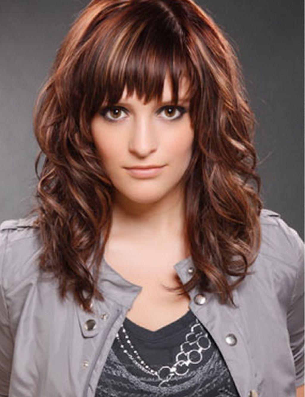 Cute Hairstyles For Bangs  Cute hairstyles for medium curly hair with side bangs