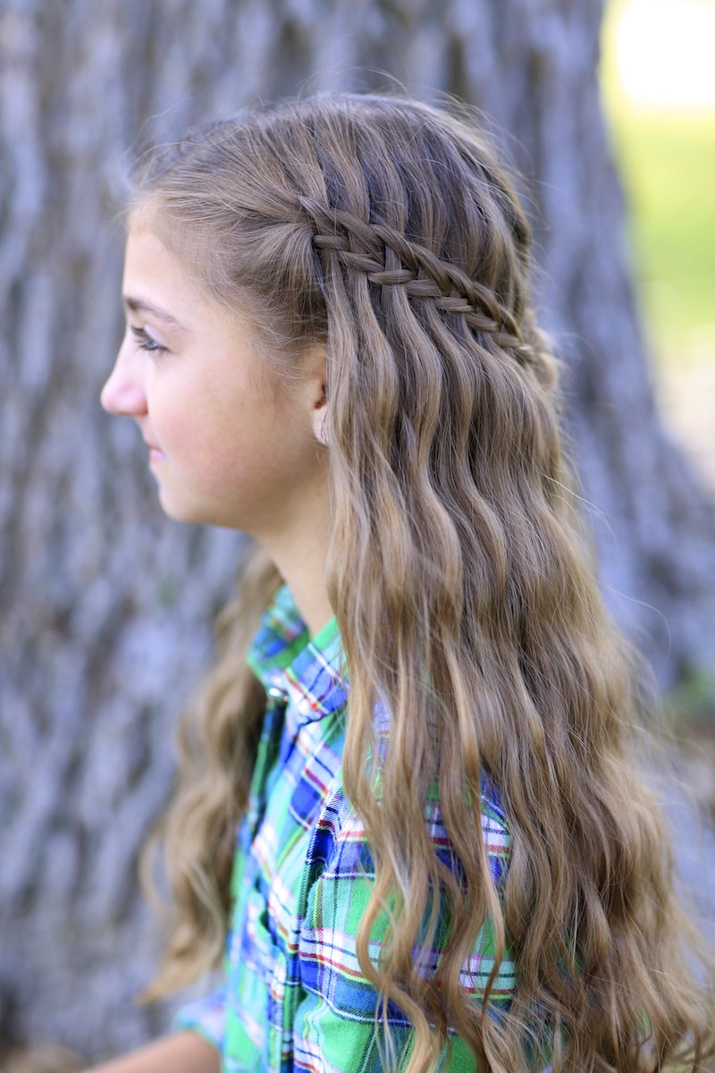 Cute Hairstyles For Braids  Scissor Waterfall Braid bo