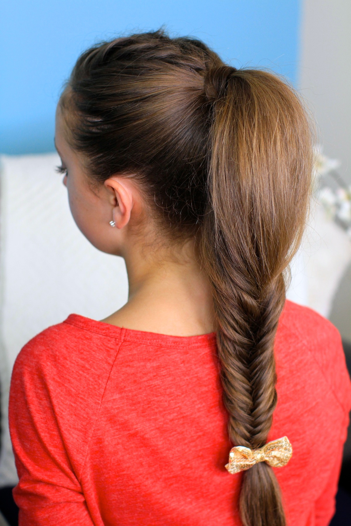 Cute Hairstyles For Braids  Fluffy Fishtail Braid Hairstyles for Long Hair