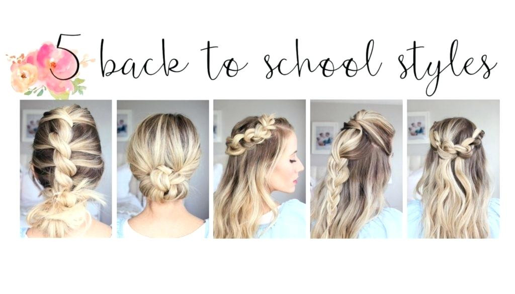 Cute Hairstyles For Picture Day At School  Unique Turial Cute Easy Hairstyles School Videos Cute Back