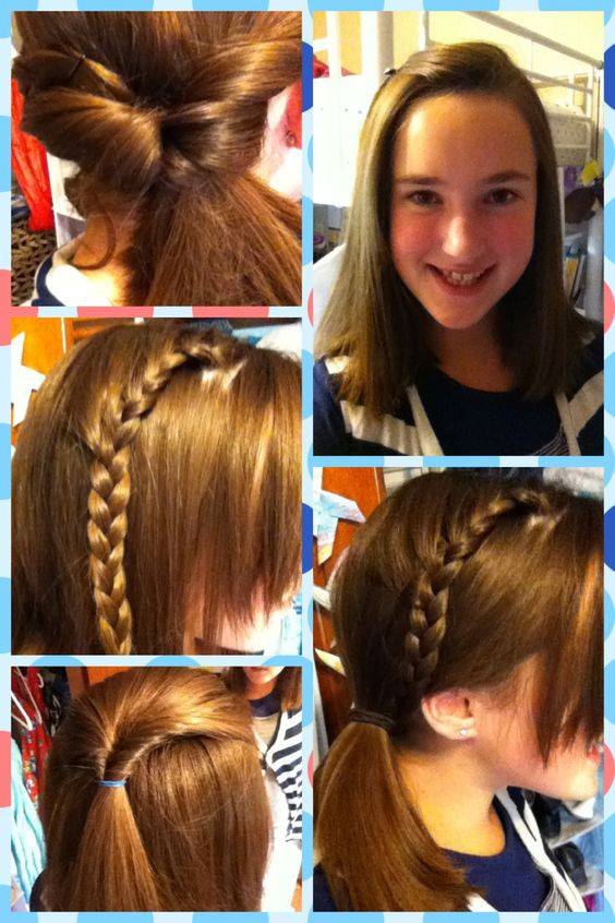Cute Hairstyles For Picture Day At School  First day of school Cheer and Cute hairstyles on Pinterest