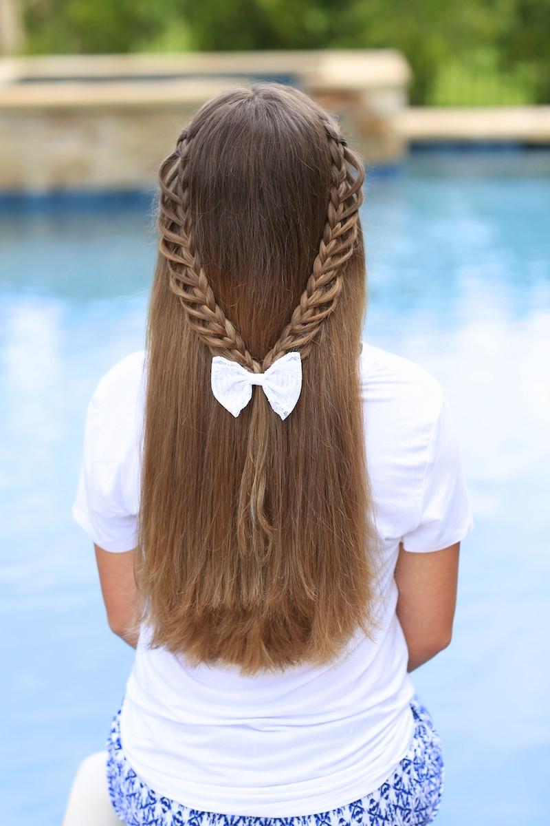 Cute Hairstyles That Are Easy  Half Loop Braidback Back to School Hairstyles