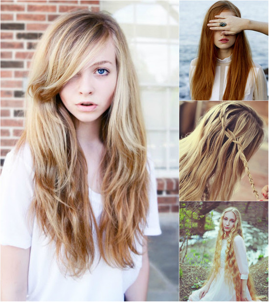 Cute Hairstyles With Extensions  Super Long Hair in Different Colors with Great Length Hair