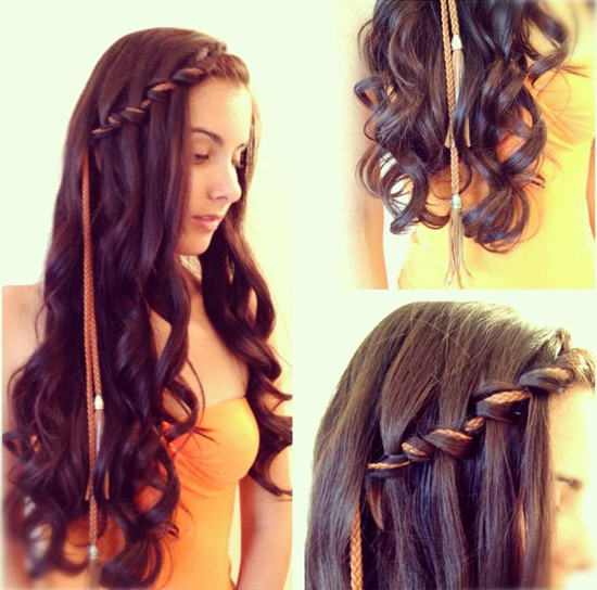 Cute Hairstyles With Extensions  Waterfall Braid Hair Archives Vpfashion Vpfashion