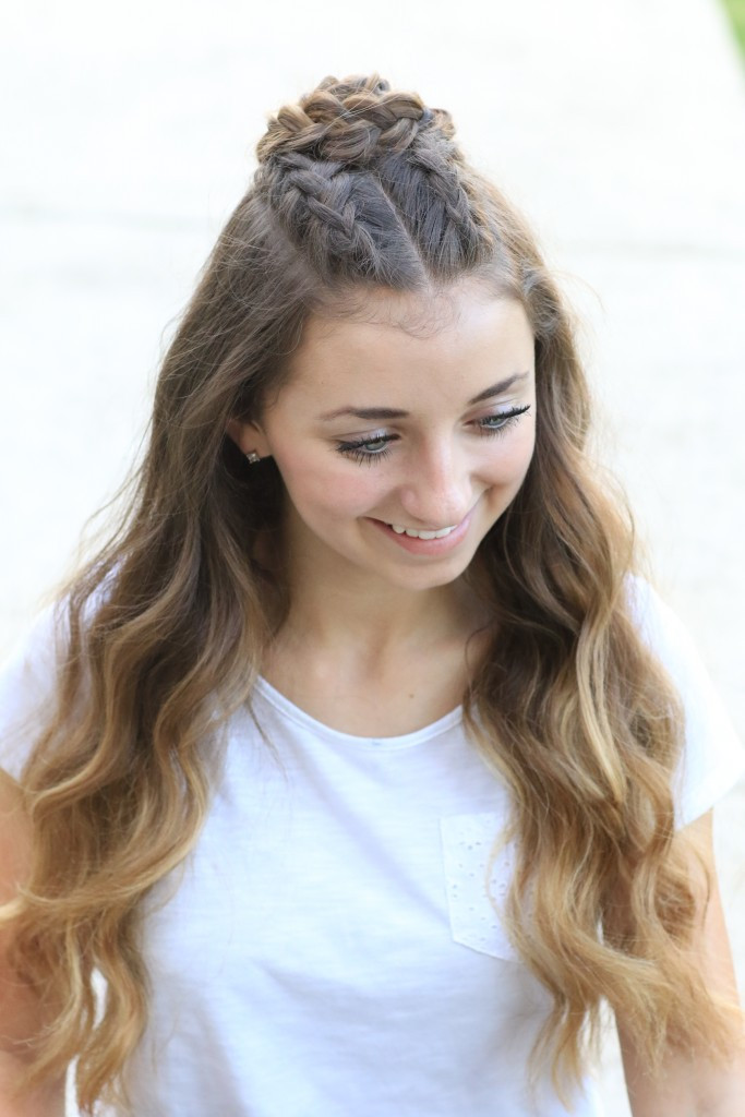 Cute Half Up Hairstyles  Half Up Rosette bo Home ing Hairstyles