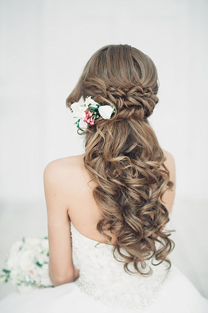Best ideas about Cute Half Up Half Down Hairstyles . Save or Pin 20 Stunning Half Up Half Down Wedding Hairstyles with Now.