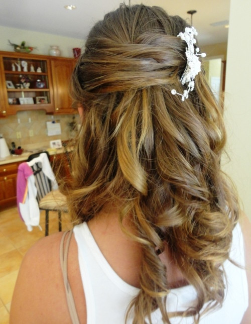 Best ideas about Cute Half Up Half Down Hairstyles . Save or Pin Cute Prom Hairstyles Half Up Half Down For Long Hair Now.