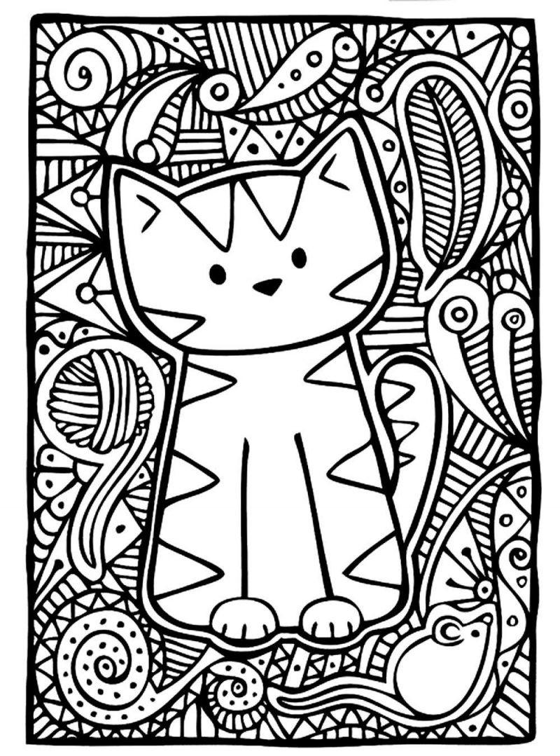 Cute Kitty Coloring Pages  Art therapy 30 disegni da stampare e colorare