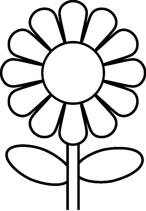 Daisy Coloring Pages  Daisy Flower Coloring Page Flower Coloring Page