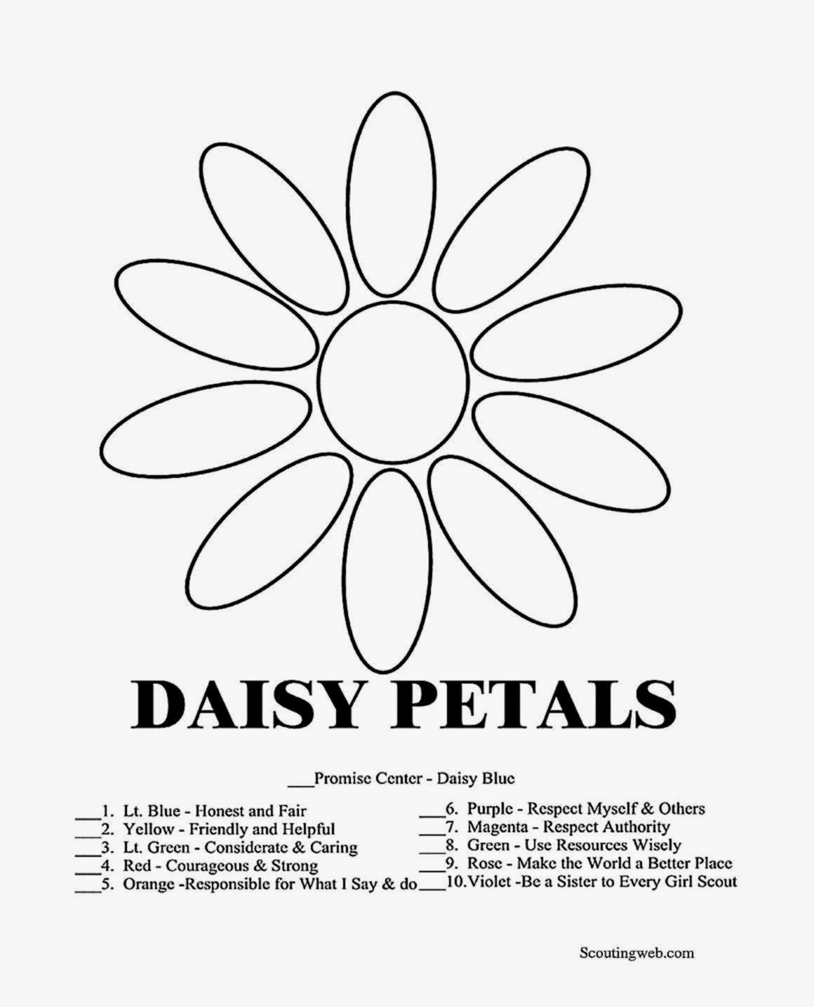 Daisy Coloring Pages  Girl Scout Coloring Sheets