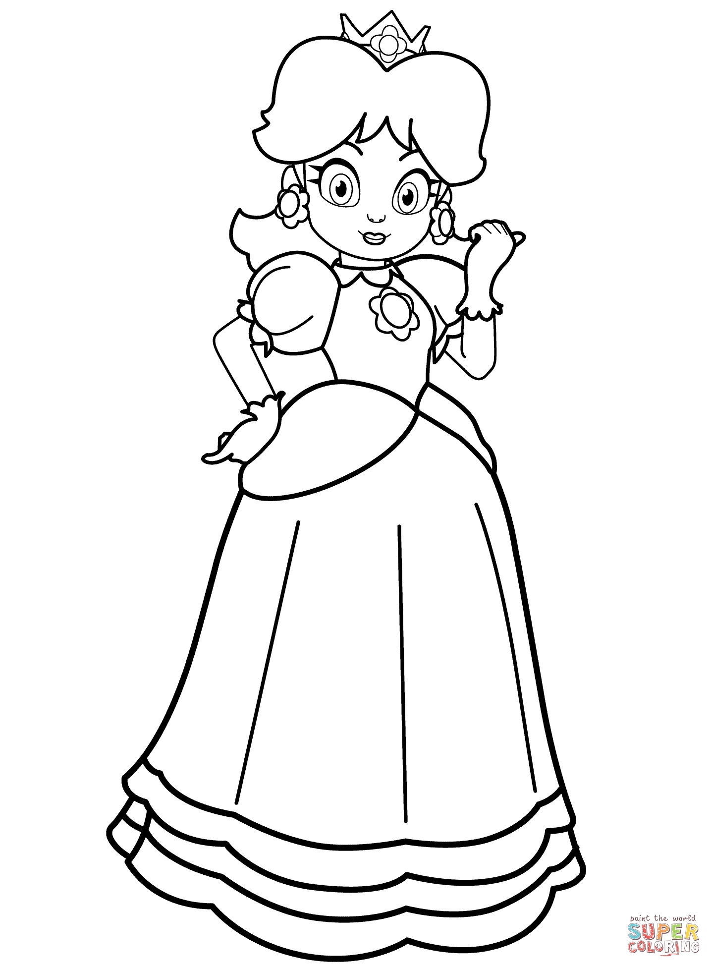 Daisy Coloring Pages  Coloriage Princesse Daisy