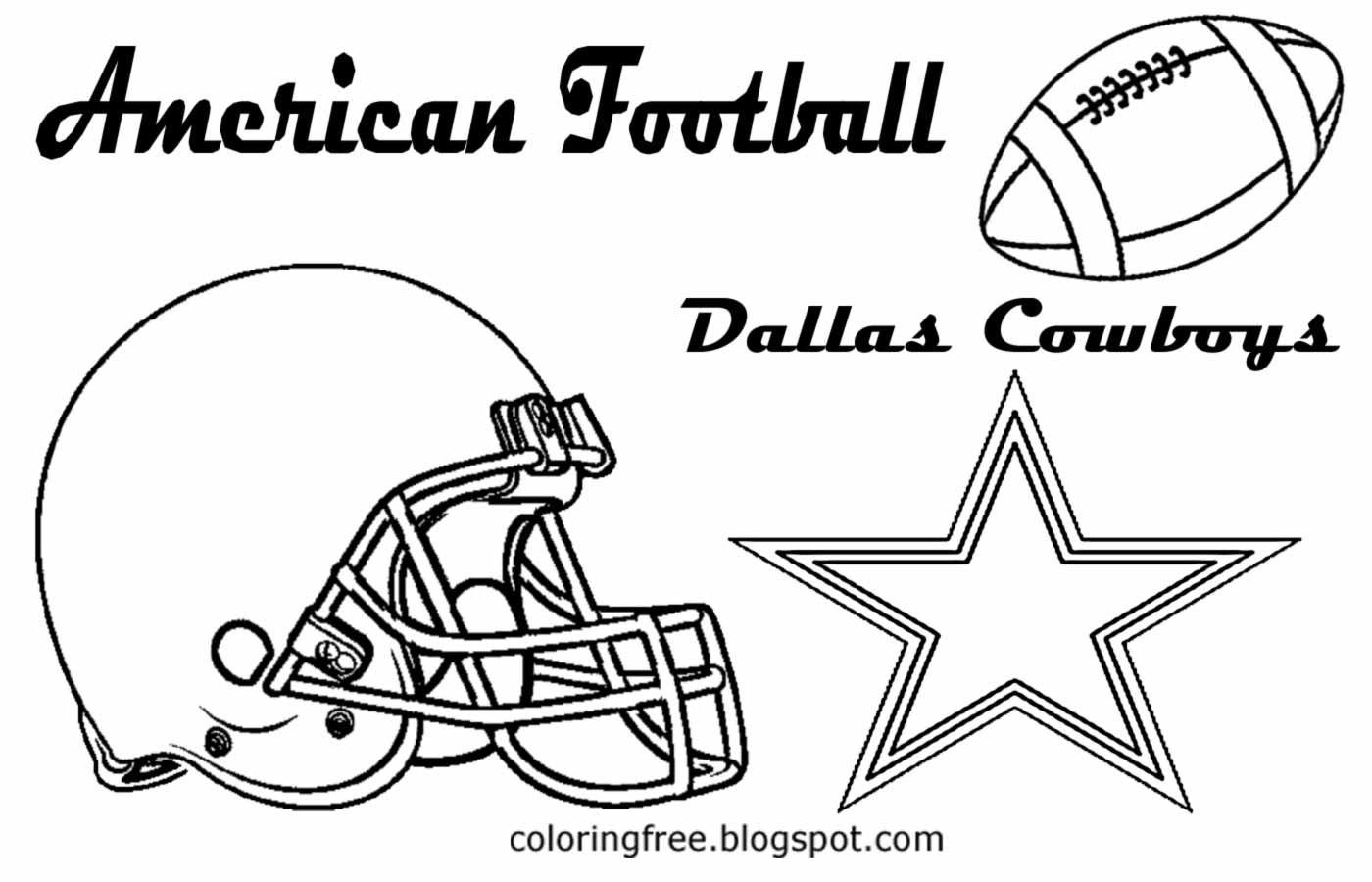 Dallas Cowboys Coloring Pages  Dallas Cowboys Free Colouring Pages