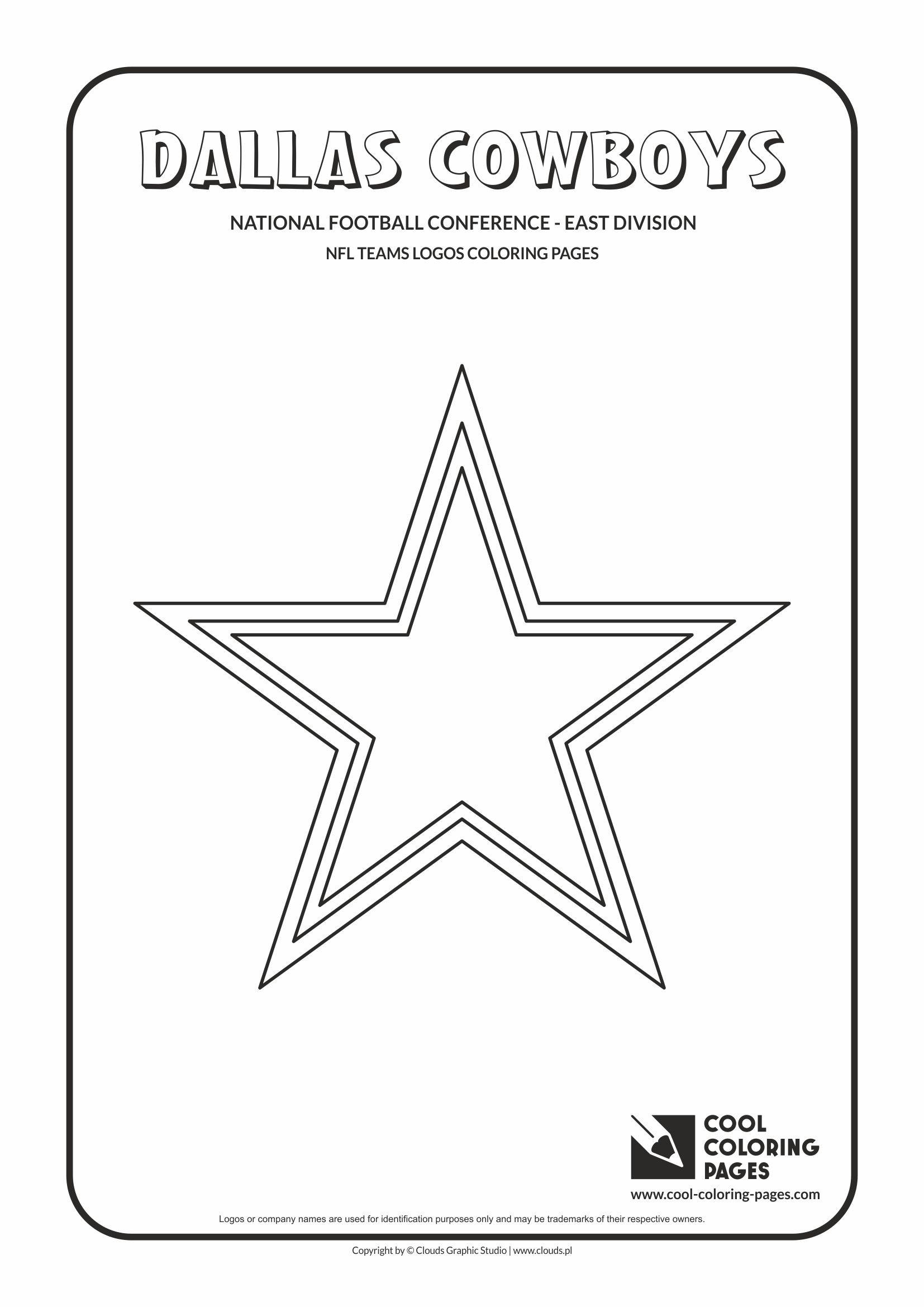 Dallas Cowboys Coloring Pages  Cool Coloring Pages NFL teams logos coloring pages Cool