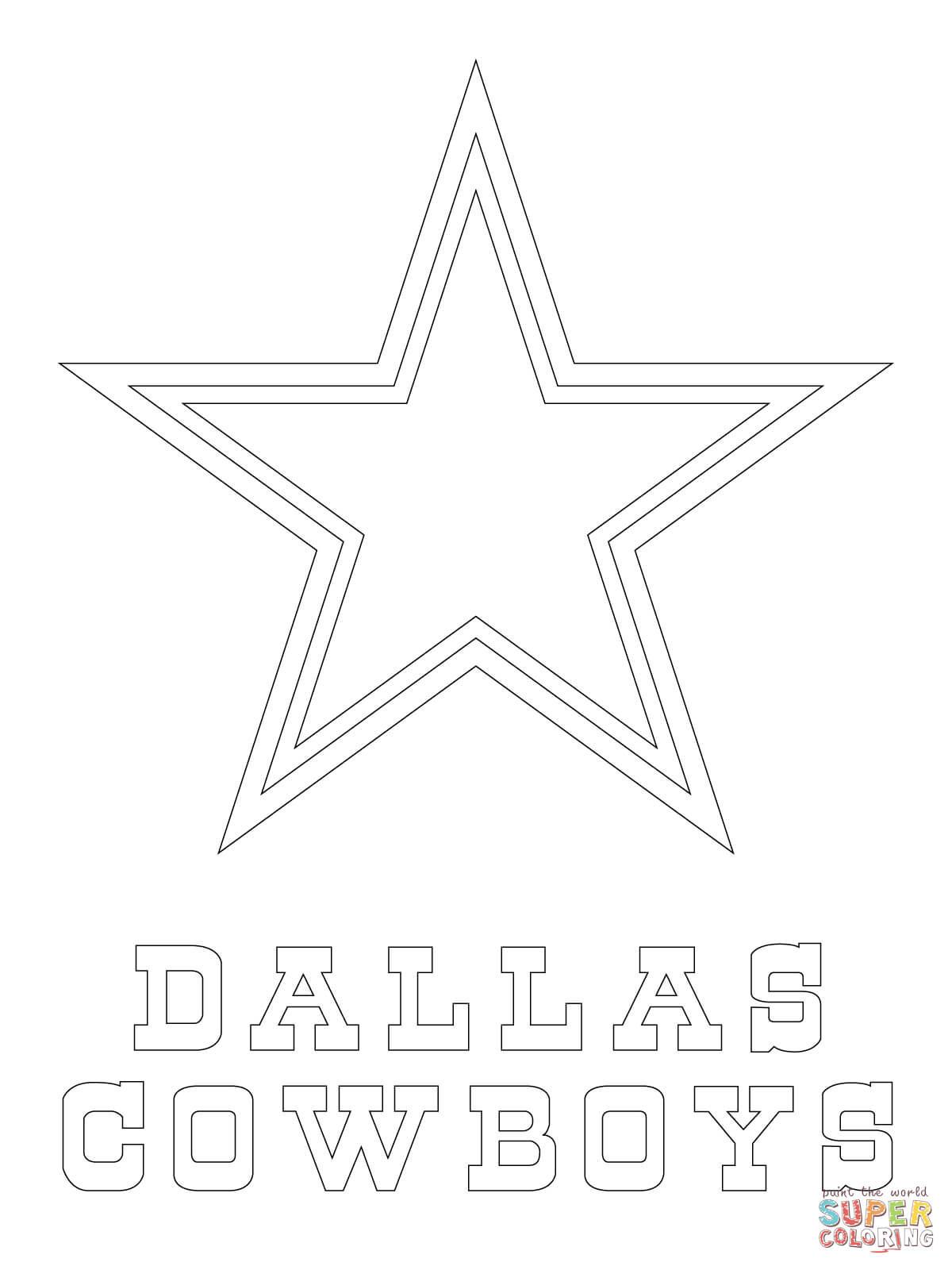 Dallas Cowboys Coloring Pages  Dallas Cowboys Logo coloring page