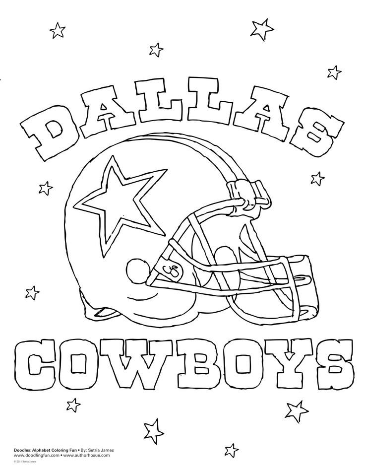 Dallas Cowboys Coloring Pages  Dallas Cowboys Coloring Pages For Kids AZ Coloring Pages