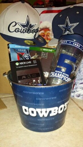 Dallas Cowboys Gift Ideas  Gift Basket for Boyfriend for Christmas Filled with