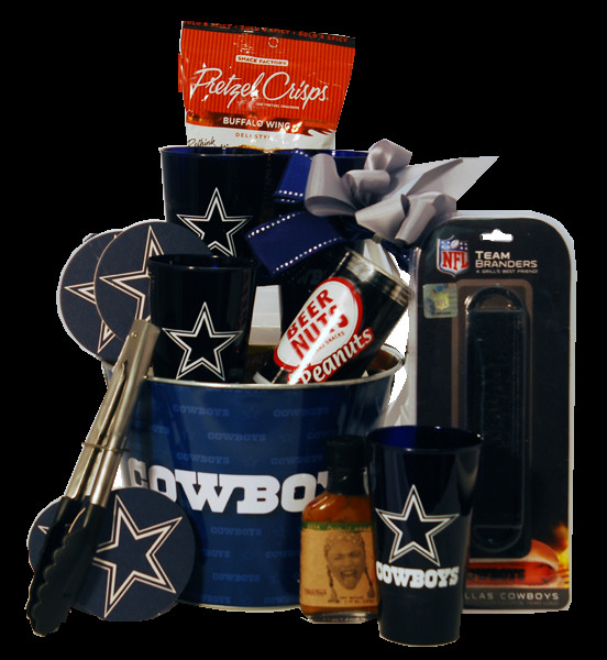 Dallas Cowboys Gift Ideas  Dallas Cowboys Tailgating Gift Basket You will score a
