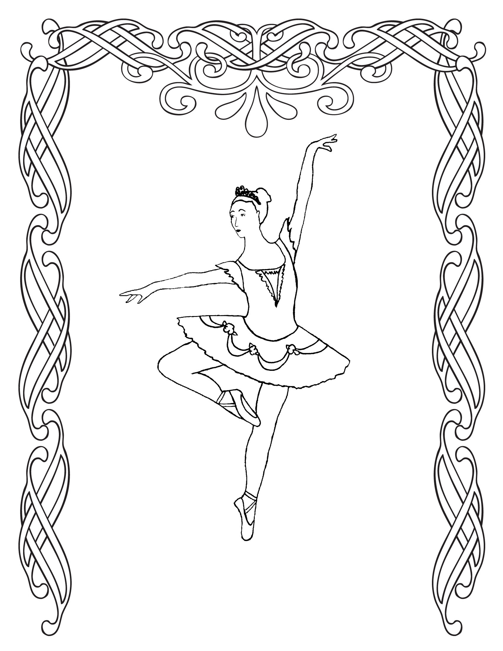 Dance Printable Coloring Pages  Free Printable Ballet Coloring Pages For Kids