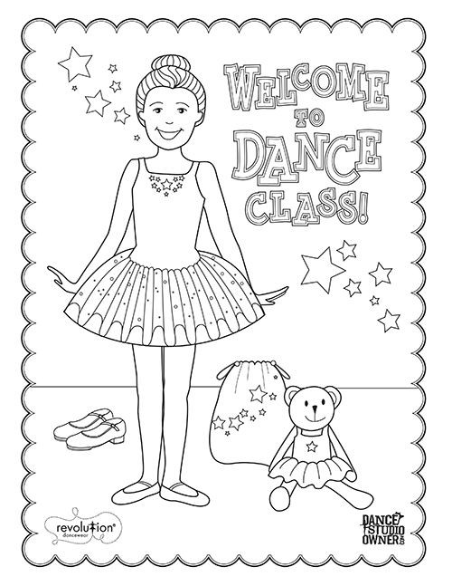 Dance Printable Coloring Pages  23 best images about Dance Coloring Pages on Pinterest