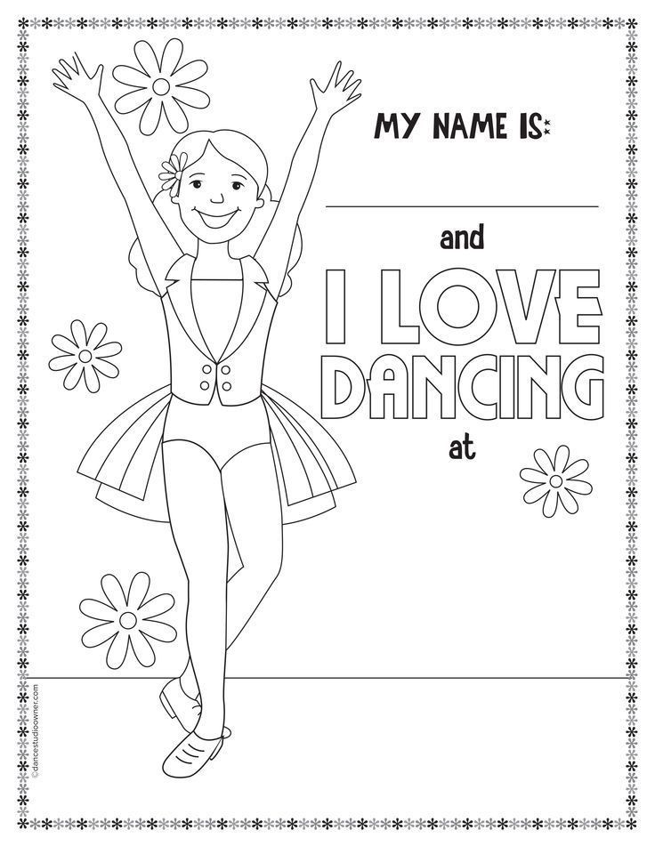 Dance Printable Coloring Pages  Jazz Dance Coloring Pages Coloring Home