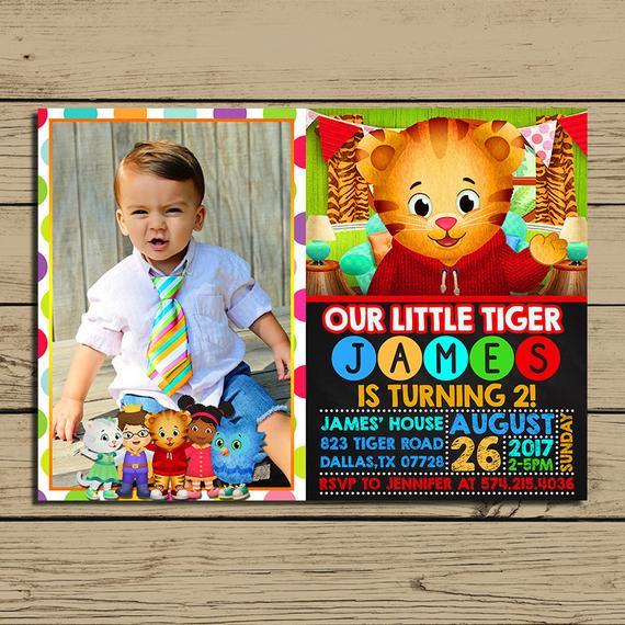 The 20 Best Ideas For Daniel Tiger Birthday Invitations