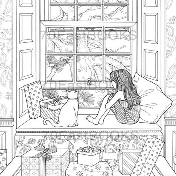 Daria Song Coloring Books  The Night Voyage The Present Coloring Book by Daria Song