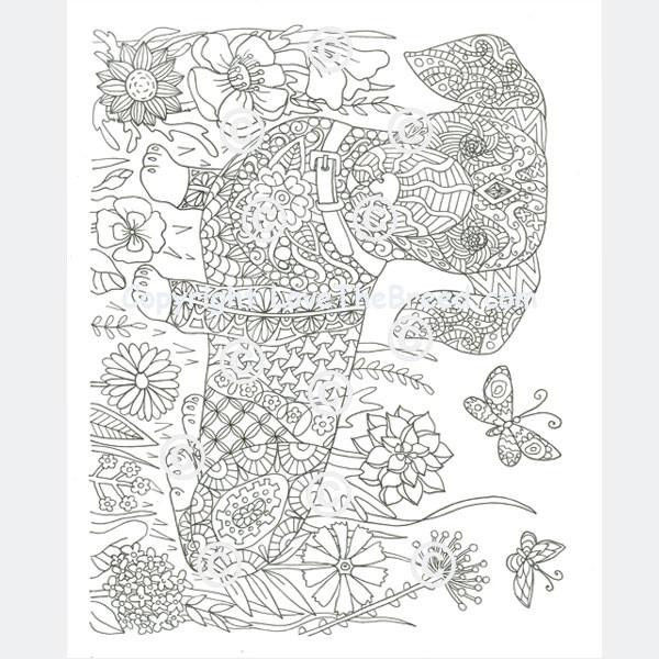 Daschund Coloring Book  Dachshund Coloring Book for Adults and Children Volume 1