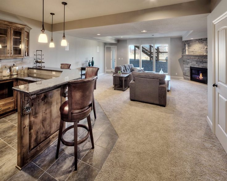 Best ideas about Daylight Basement Ideas . Save or Pin Finished Daylight Basement Bar Walkout Bickimer Homes Now.
