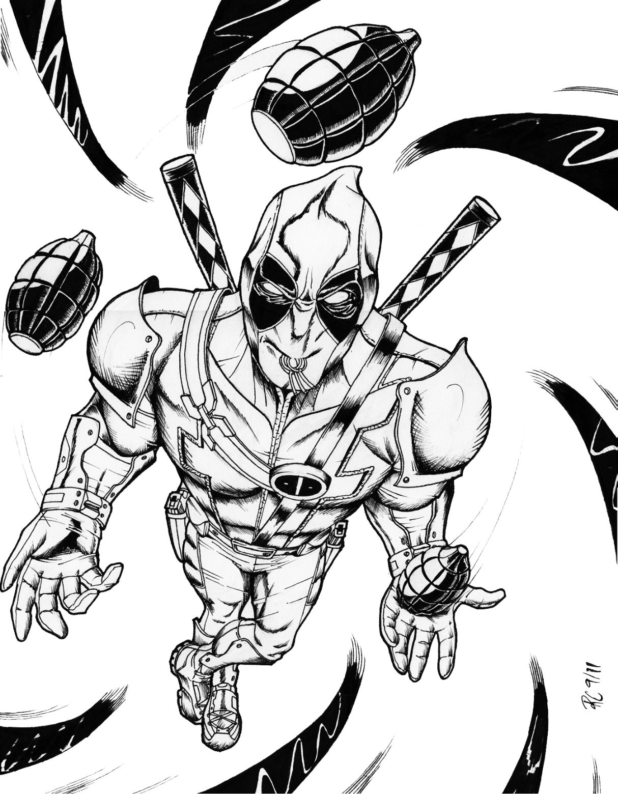 Deadpool Coloring Pages  Free Printable Deadpool Coloring Pages For Kids