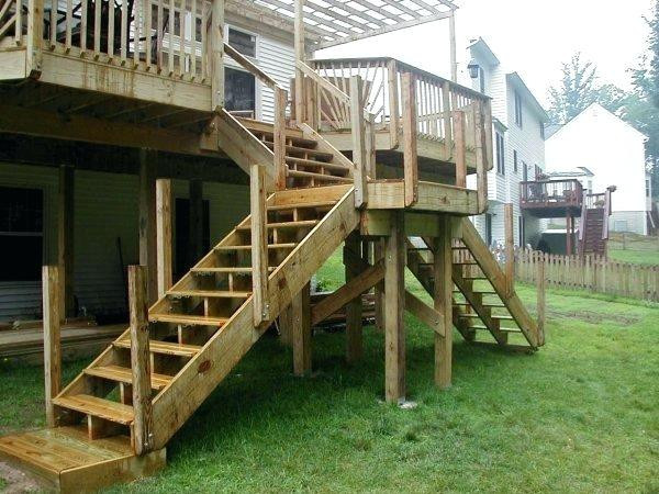 Best ideas about Deck Stairs Code . Save or Pin Deck Stairs With Landing Fixs Project Now.