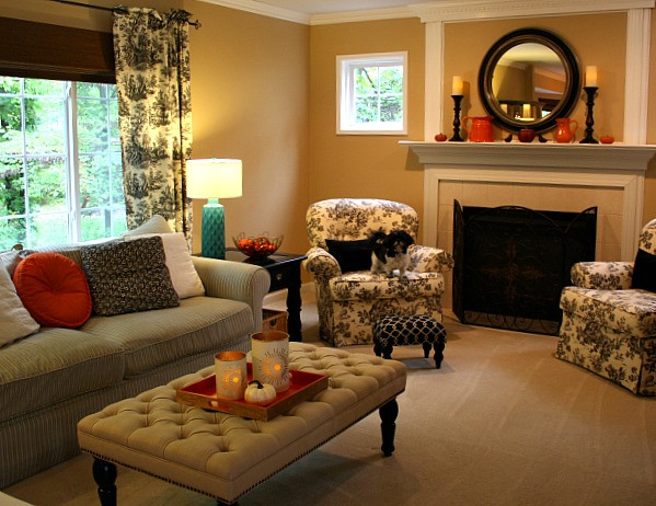 Best ideas about Decor Ideas For Family Room . Save or Pin Family Room decorated for Fall 4 Hooked on Houses Now.