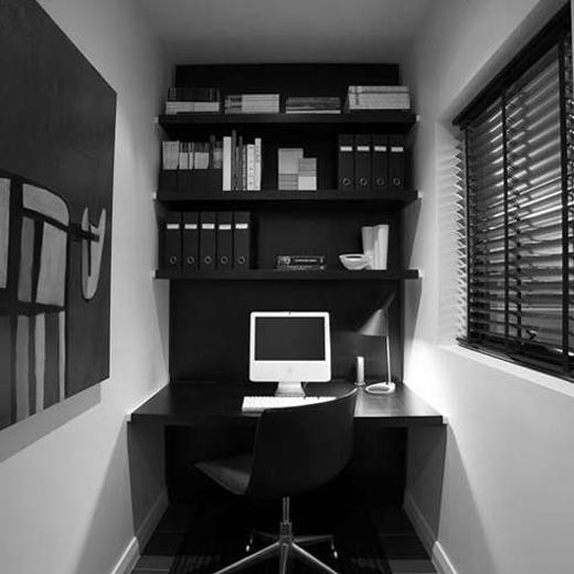 Best ideas about Decorating Small Office Space . Save or Pin hayanstreet DECOR BLACK OFFICE Now.