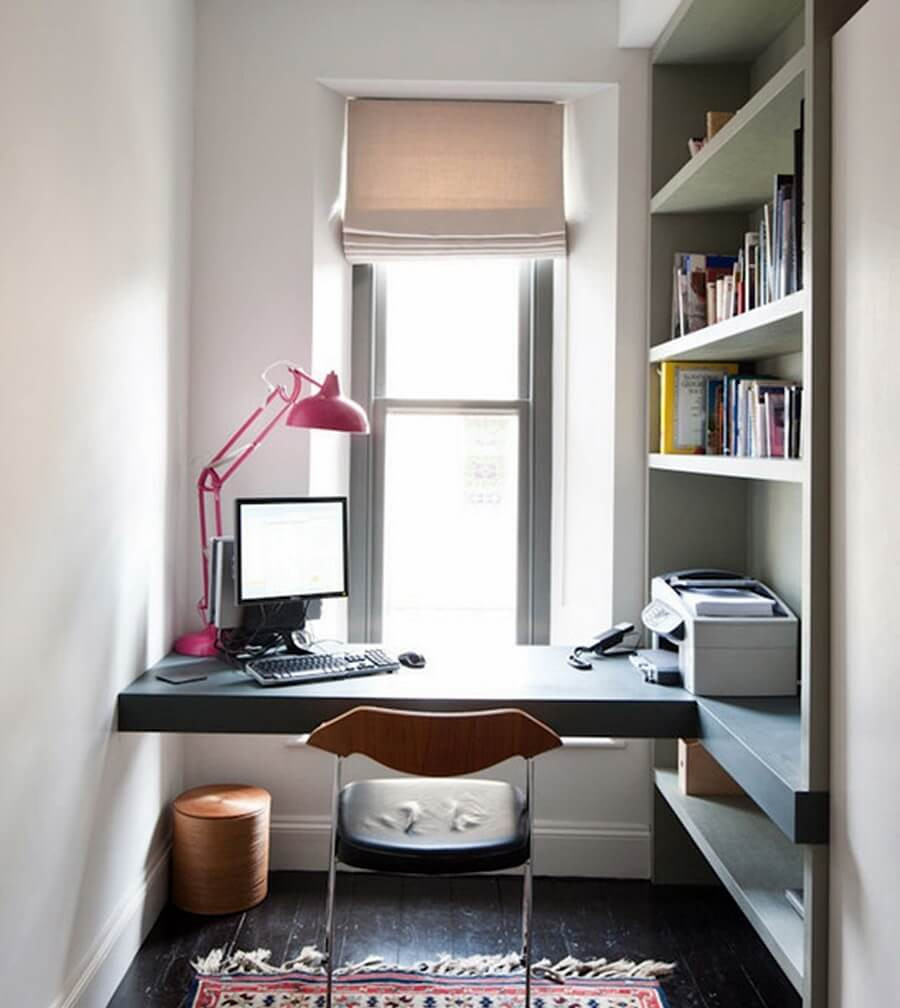 Best ideas about Decorating Small Office Space . Save or Pin Home fice Pequeno 21 Brilhantes Dicas 50 Fotos Now.