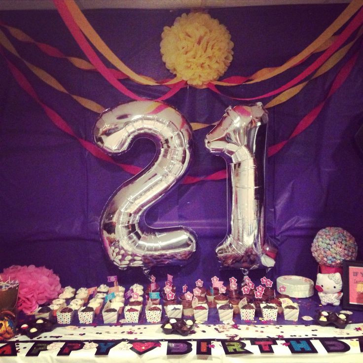 Decorations For 21st Birthday  105 best images about 21st bday on Pinterest