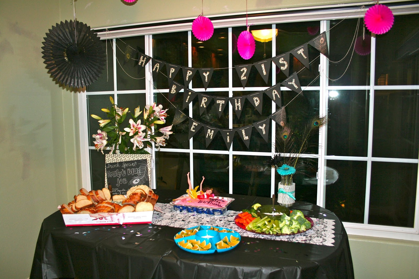 Decorations For 21st Birthday  Champagne Taste Shoestring Bud 21st Birthday Party