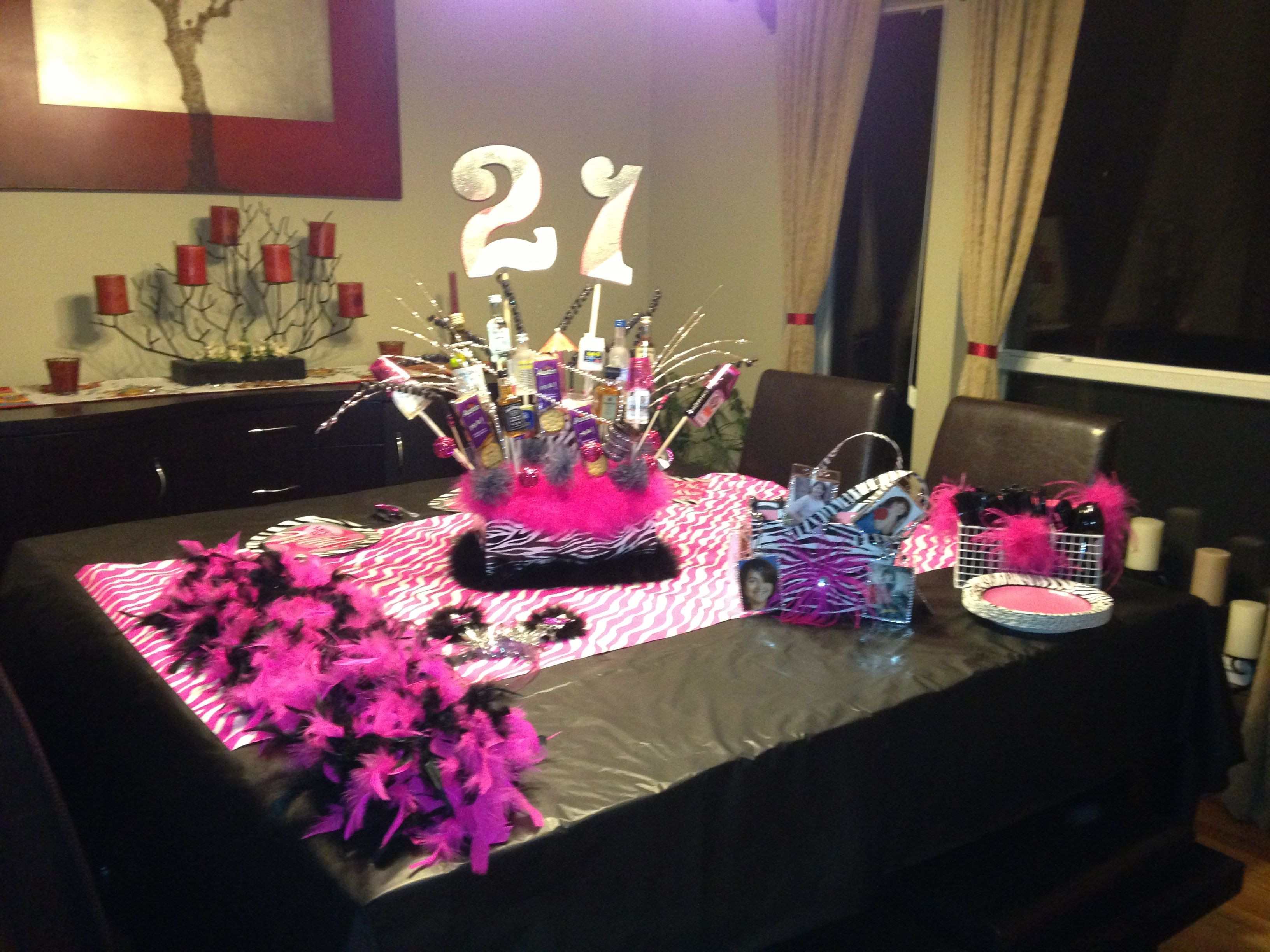 Decorations For 21st Birthday  21st Birthday Party Table Setup