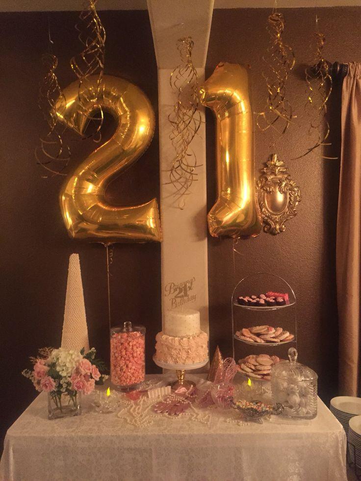 Decorations For 21st Birthday  Best 25 21st birthday themes ideas on Pinterest