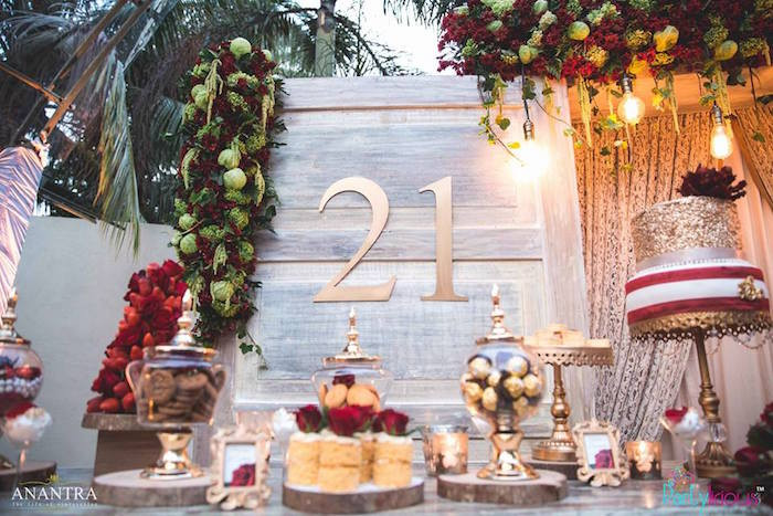 Decorations For 21st Birthday  Kara s Party Ideas Rustic Vintage 21st Birthday Party