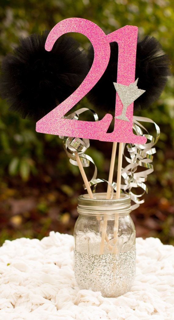 Decorations For 21st Birthday  21st Birthday Centerpiece Party Decoration by
